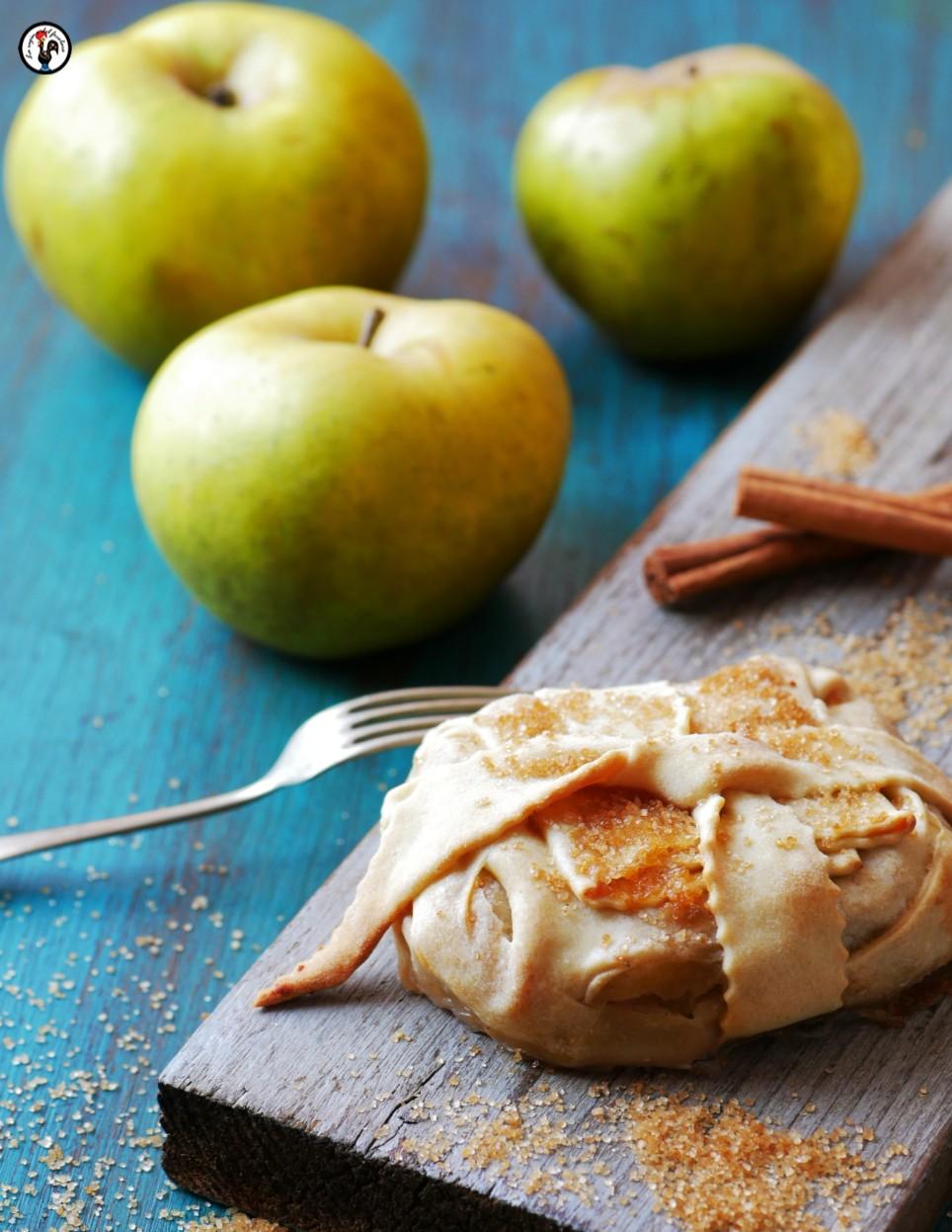 Fagottini di mele, ricetta light