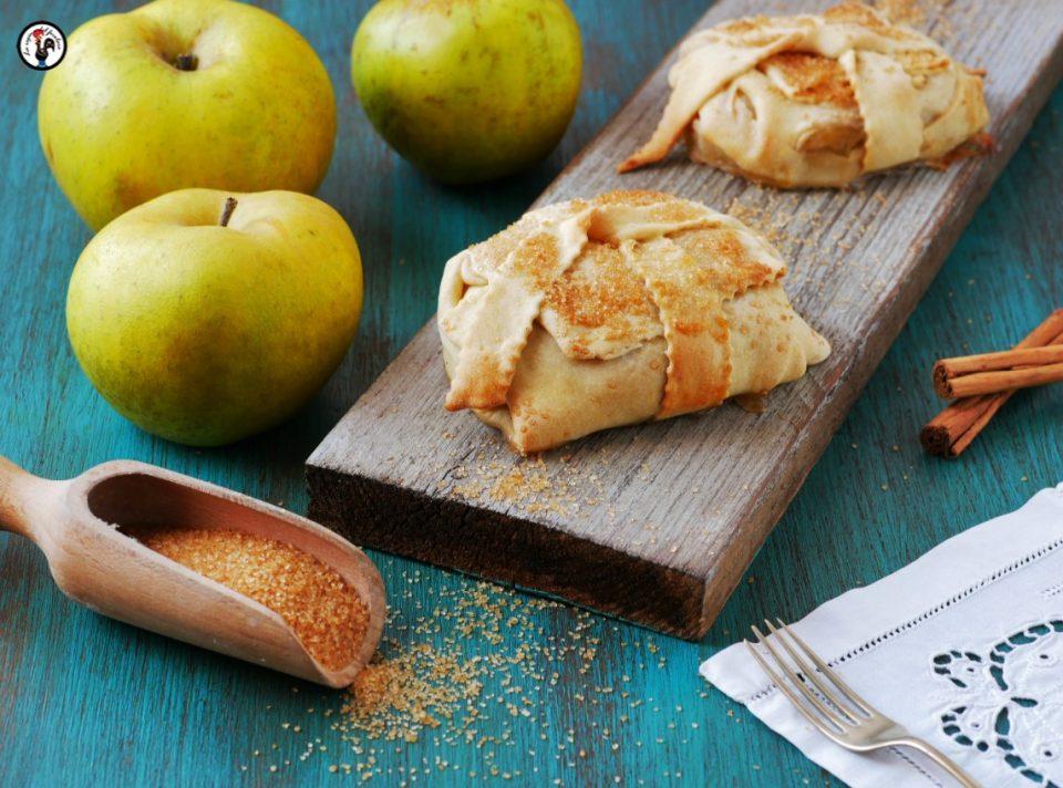 Fagottini di mele light, senza burro e uova