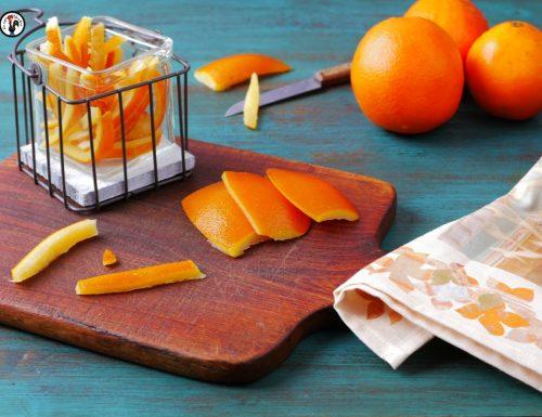 Scorzette d'arancia fatte in casa