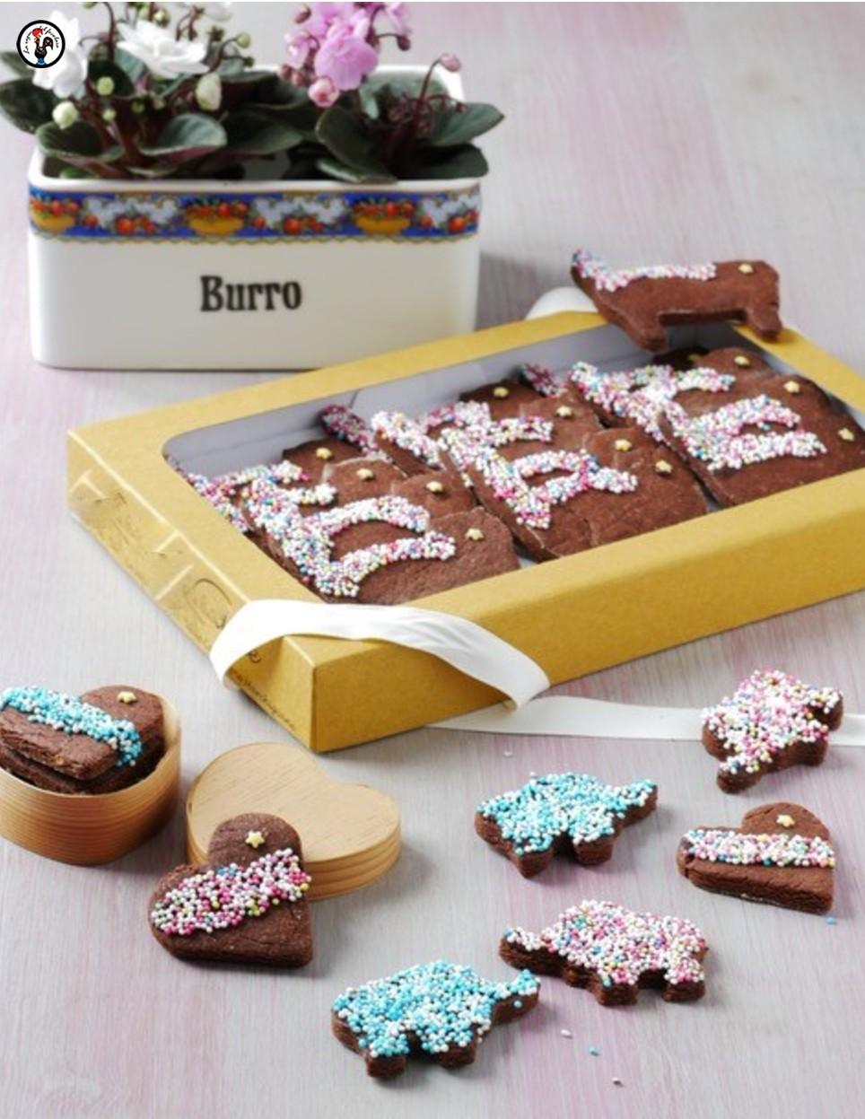 Paste frolle al doppio cioccolato