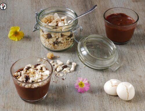 Budino cioccolato e nocciole. Ricetta senza latte e uova