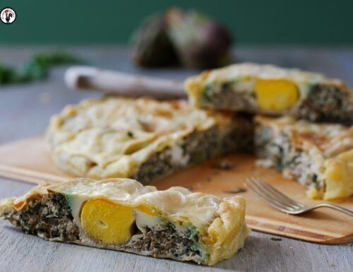 Torta pasqualina: la torta salata ligure di carciofi e bietole