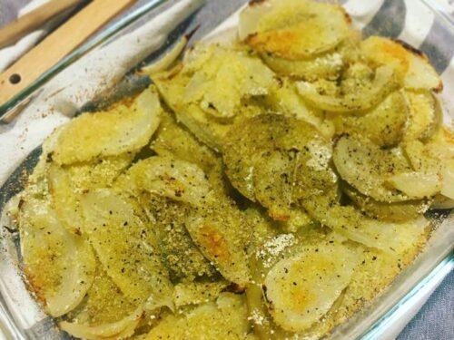 Tortino di finocchi e patate