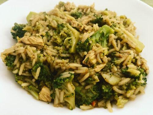 Riso basmati con pollo e broccolo
