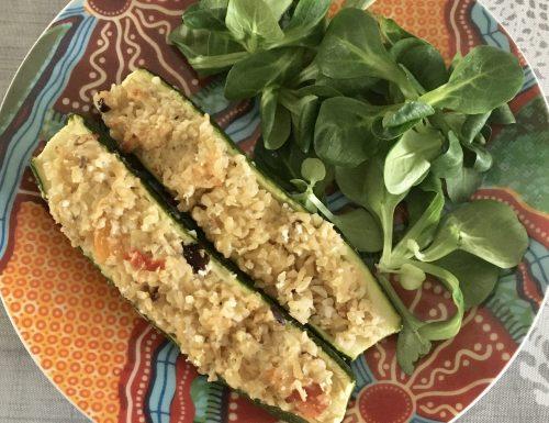 Zucchine al forno con bulgur