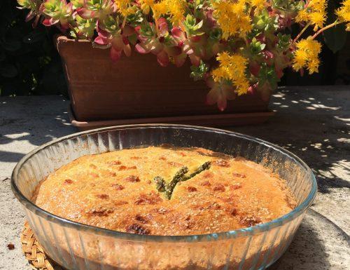 Torta di asparagi con frolla al formaggio
