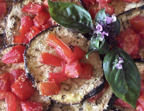 Melanzane mediterranee a modo mio, ricetta light