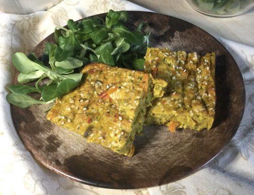 Frittata leggera con verdure ai profumi d'oriente