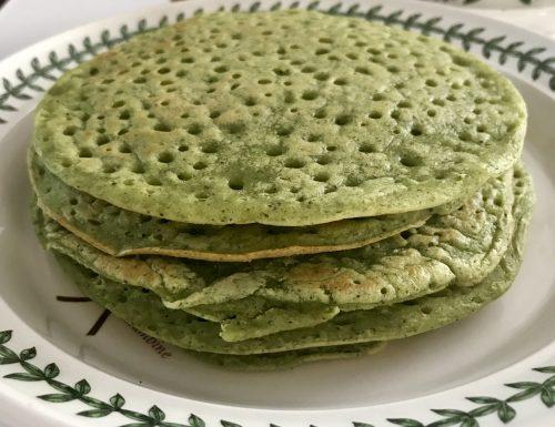 Pancakes alle zucchine e tè verde