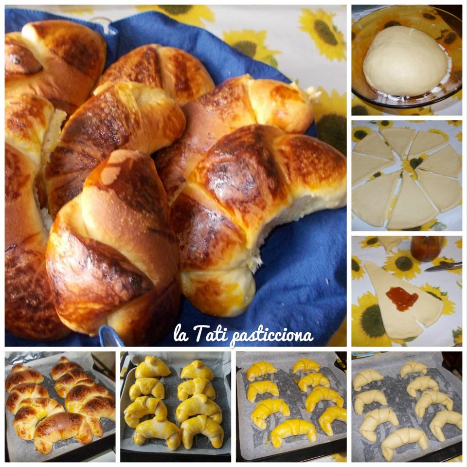 Cornetti di pan brioche a lievitazione lunga