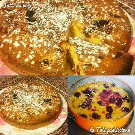 Torta soffice con ciliegie