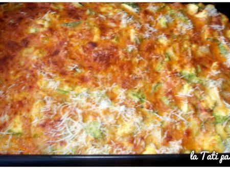 Sformato di zucchine, cipolla e prosciutto cotto
