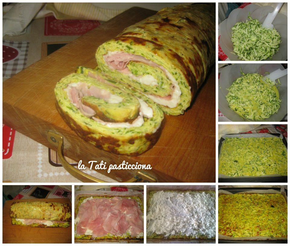 Rotolo di Zucchine con Prosciutto Cotto e Stracchino
