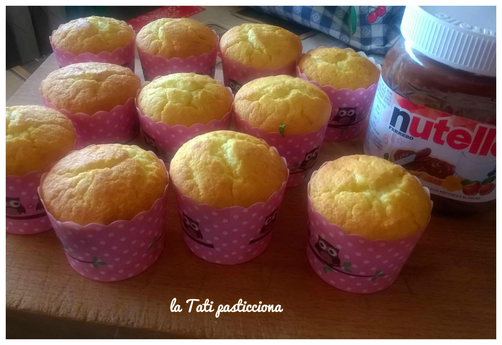 Muffin ricotta pere e nutella
