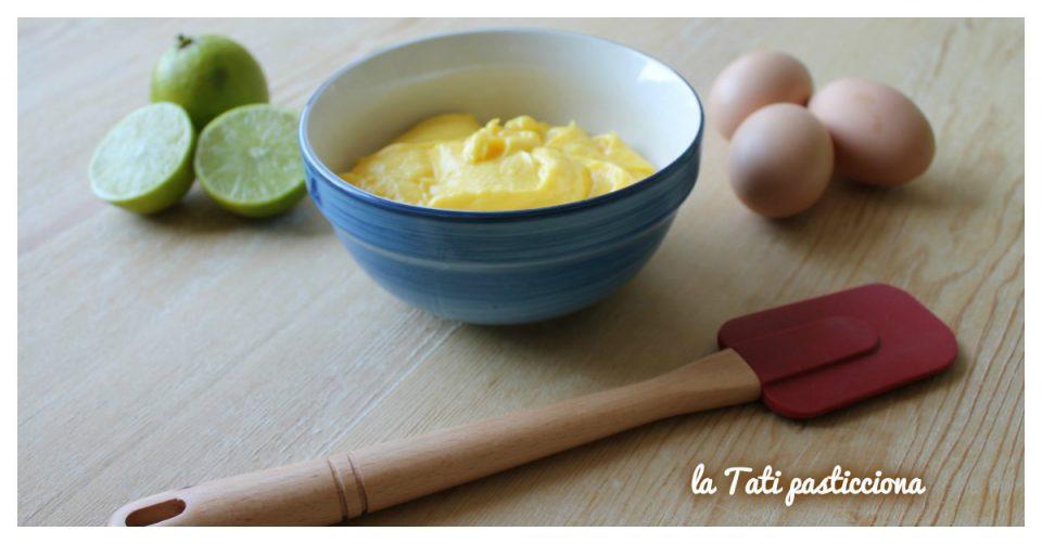 Crema pasticcera zafferano e lime