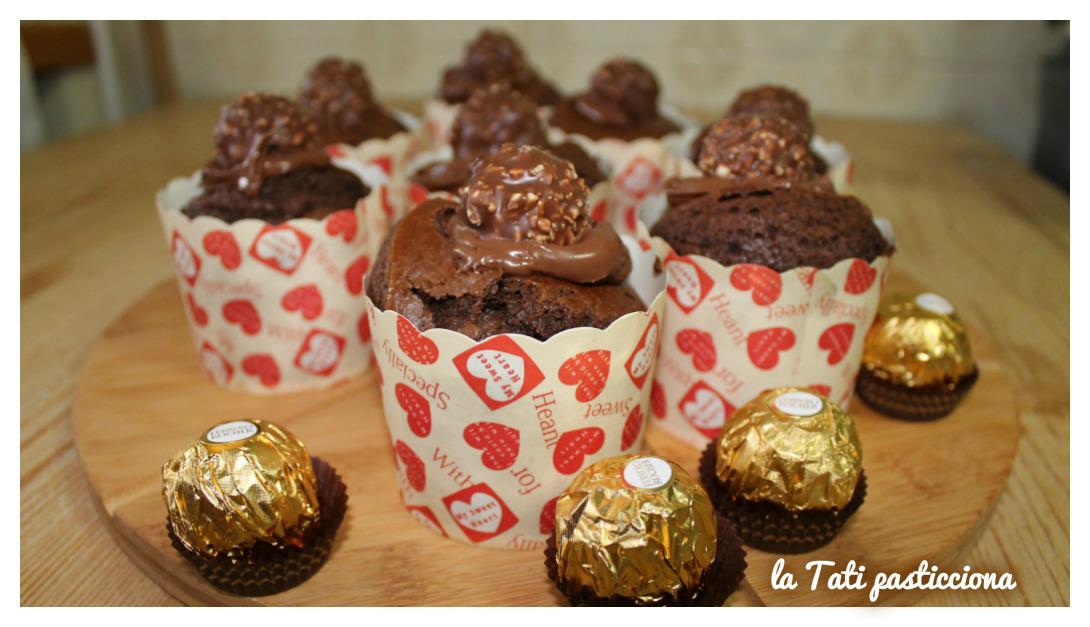 Muffin Nutella e Ferrero Rocher