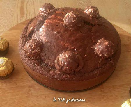 Torta cacao Nutella e Ferrero Rocher