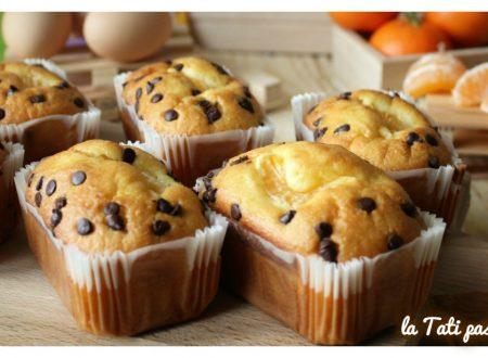 Mini plumcake clementine e gocce di cioccolato