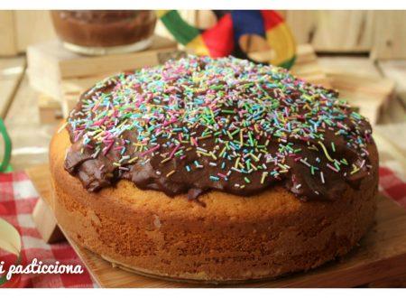 Torta arlecchino con crema al cioccolato