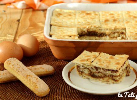 Mattonella dolce con crackers