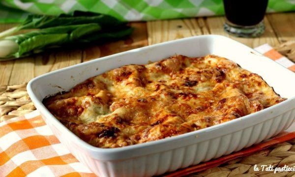 Lasagne vegetariane con bietole e formaggi