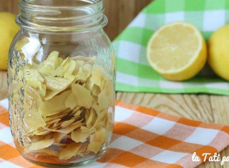 Come riutilizzare le bucce di limone usate per il limoncello