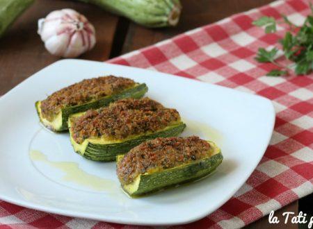 Barchette di zucchine gratinate SENZA CARNE