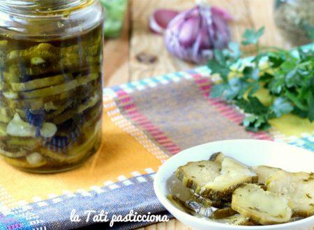 Zucchine sott'olio agli aromi