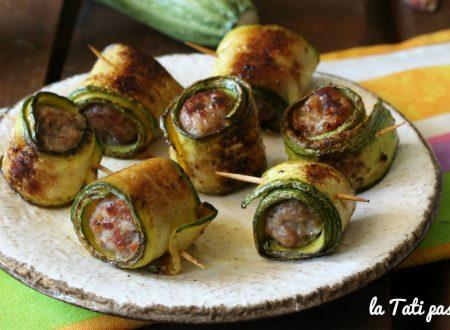 Fagottini di zucchine con salsiccia