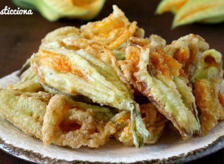 Fiori di zucca fritti e asciutti
