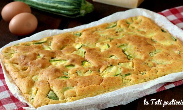 Focaccia pastellata alle zucchine