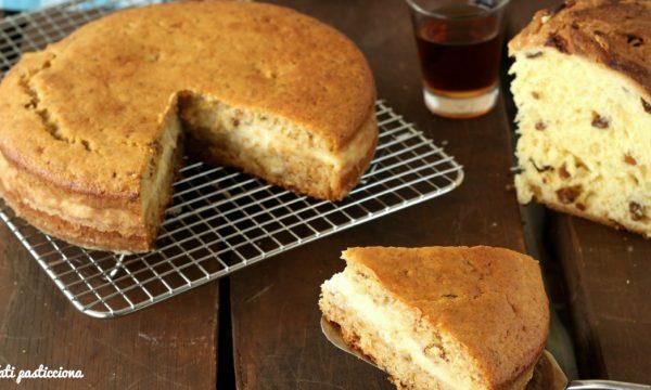 Pan di panettone con crema al Vinsanto