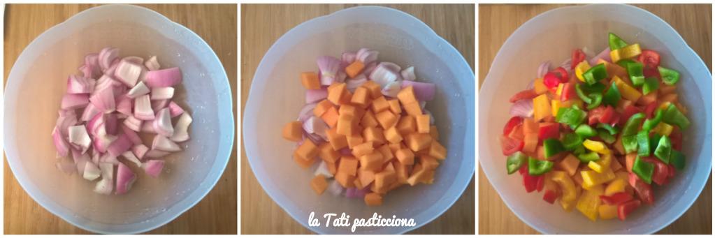 zucca cipolla e peperoni gratinati 2