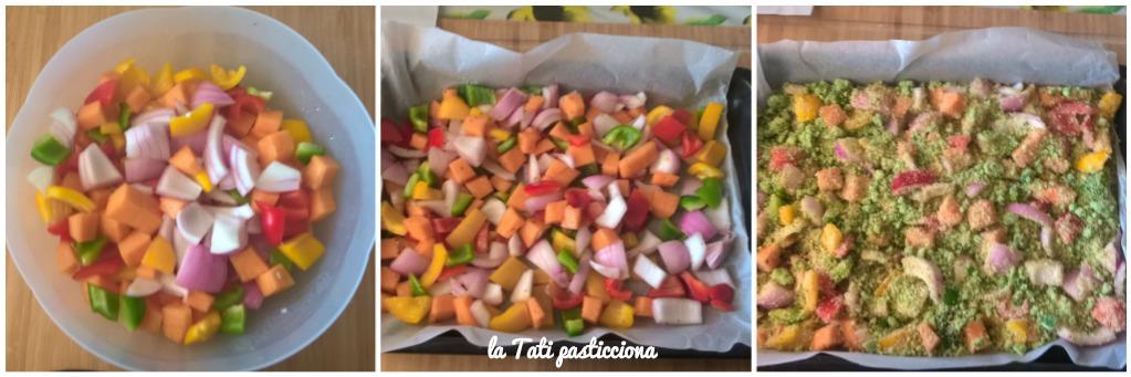 zucca cipolla e peperoni gratinati 3
