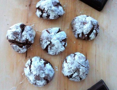 Biscotti al cioccolato fondente crinkles cottura 10 minuti