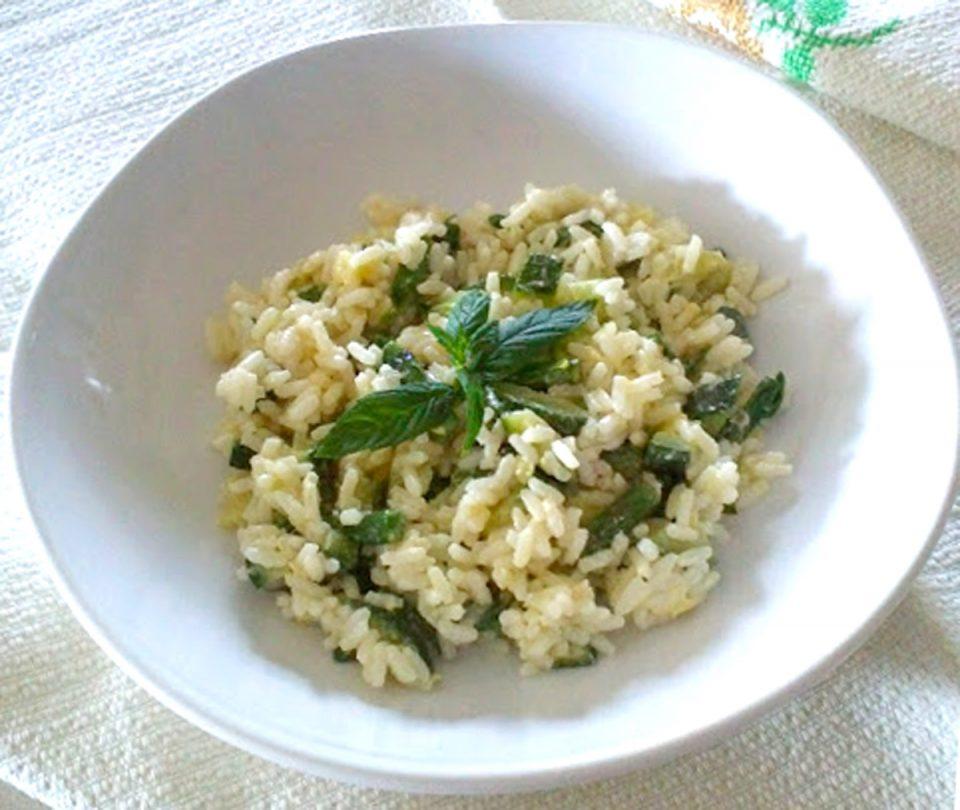 Riso freddo con zucchine ed asparagi ritoccata