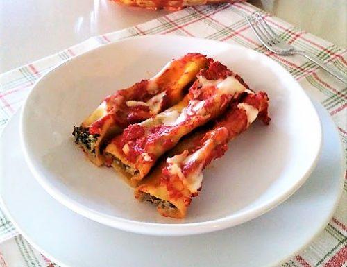 Cannelloni ricotta e spinaci vegetariani