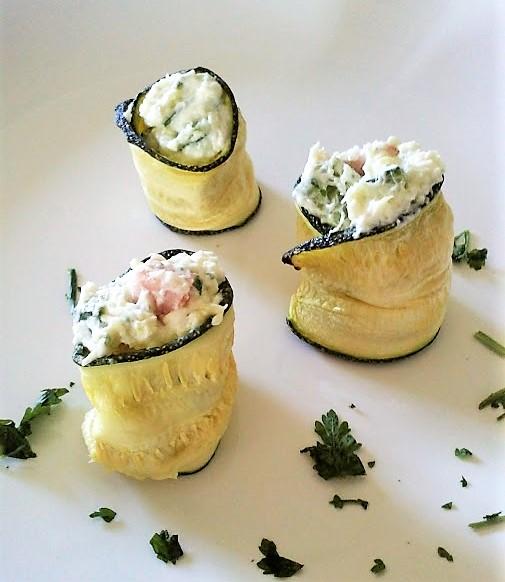 Involtini di zucchine con philadelphia
