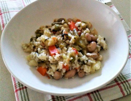 Riso fantasia di verdure con minestrone