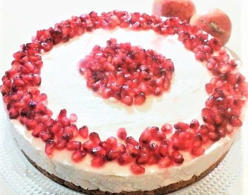 Cheesecake al melograno con ricotta e panna