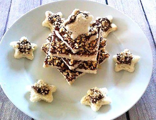 Alberello di Natale pancarrè nutella e nocciole