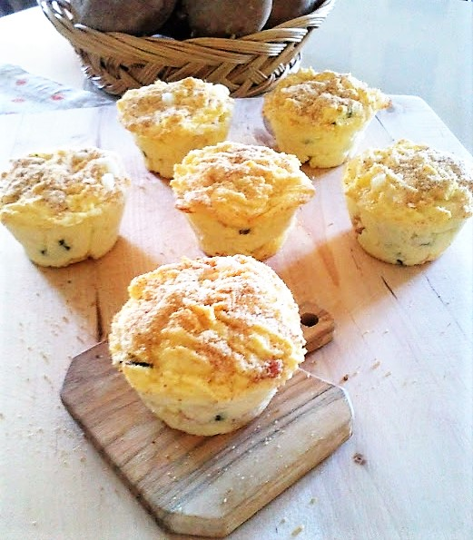 Muffin Gateau Di Patate Con Prosciutto E Mozzarella La Tavola Di Gio