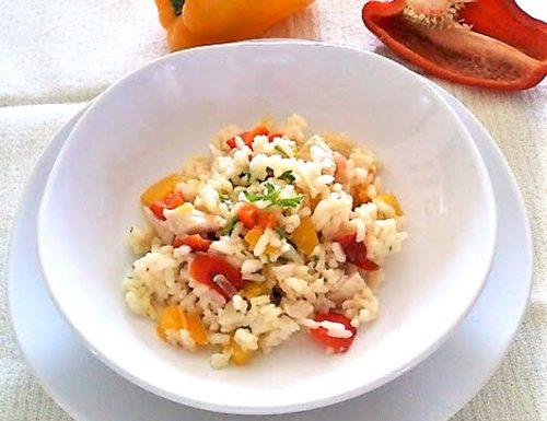Riso pollo e peperoni ricetta senza curry