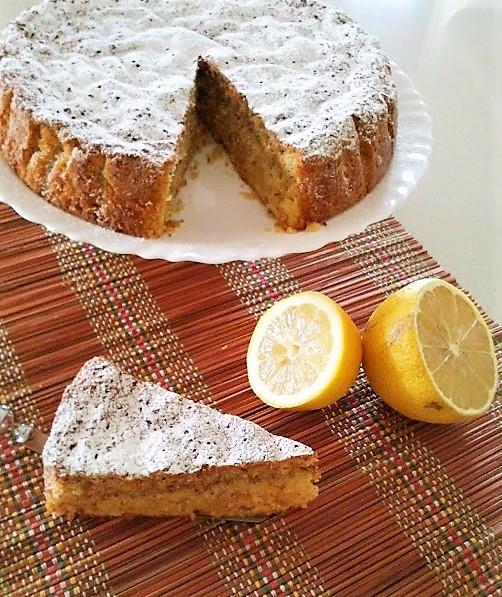 Torta caprese al limone senza farina