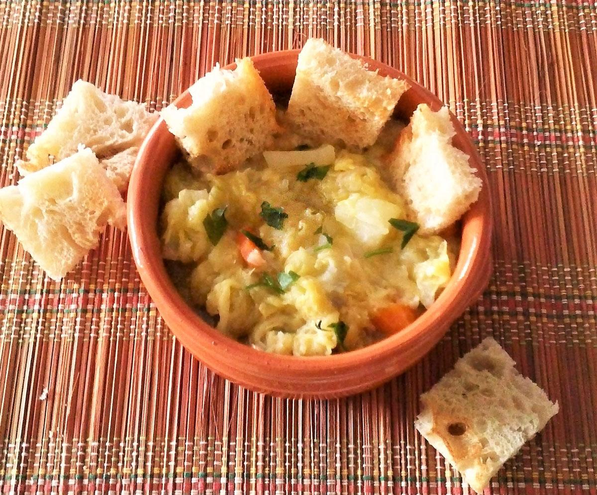 Zuppa di cavolo cappuccio e patate
