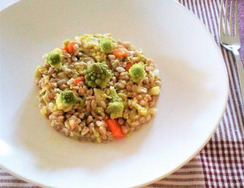 Zuppa di farro e broccolo romanesco