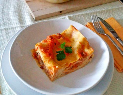 Lasagne alla zucca con salsiccia e besciamella