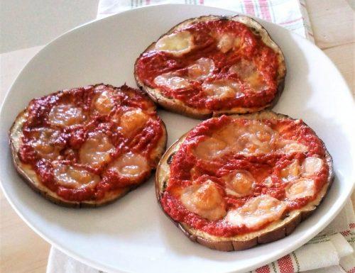 Pizzette alle melanzane 15 minuti in forno