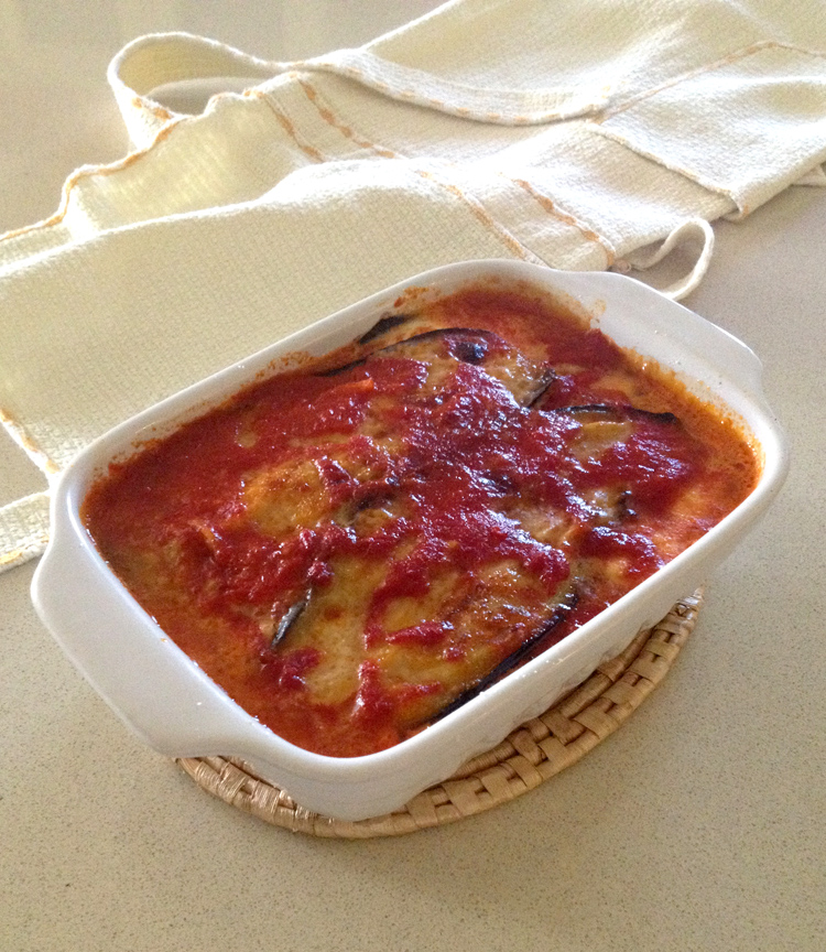 Parmigiana di melanzane con prosciutto cotto