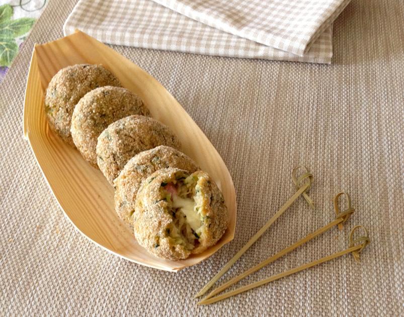 Polpette di zucchine al forno con ripieno
